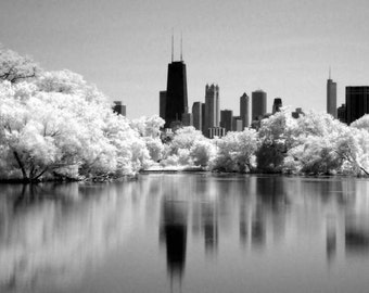 North Pond in Chicago - 8x12 Fine Art Infrared Photograph