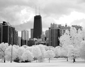 View of the Hancock Building -  8x12 Fine Art Infrared Photograph