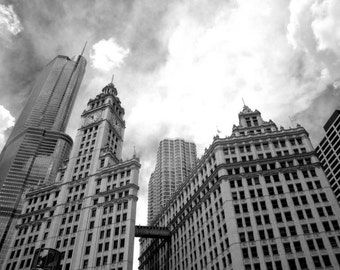 Chicago Wrigley Building- 8x12 Fine Art Infrared Photograph