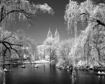 The Lake in Central Park New York -  8x12 Fine Art Infrared Photograph