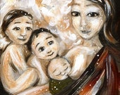 Bare Essence - Archival 8x10 signed motherhood print from an acrylic painting by Katie m. Berggren