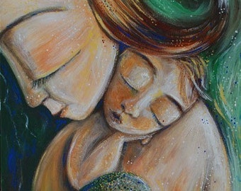 Merchild - print from an acrylic painting by Katie m. Berggren