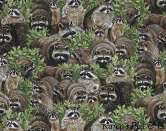 Raccoons Black Eyed Racoon Bandit Raccoon North American Mammal Procyon Lotor Curtain Valance