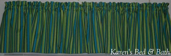 Lime green turquoise brown stripe striped stripes curtain - Green and turquoise curtains ...