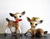 Vintage Big Eyed Deer Set