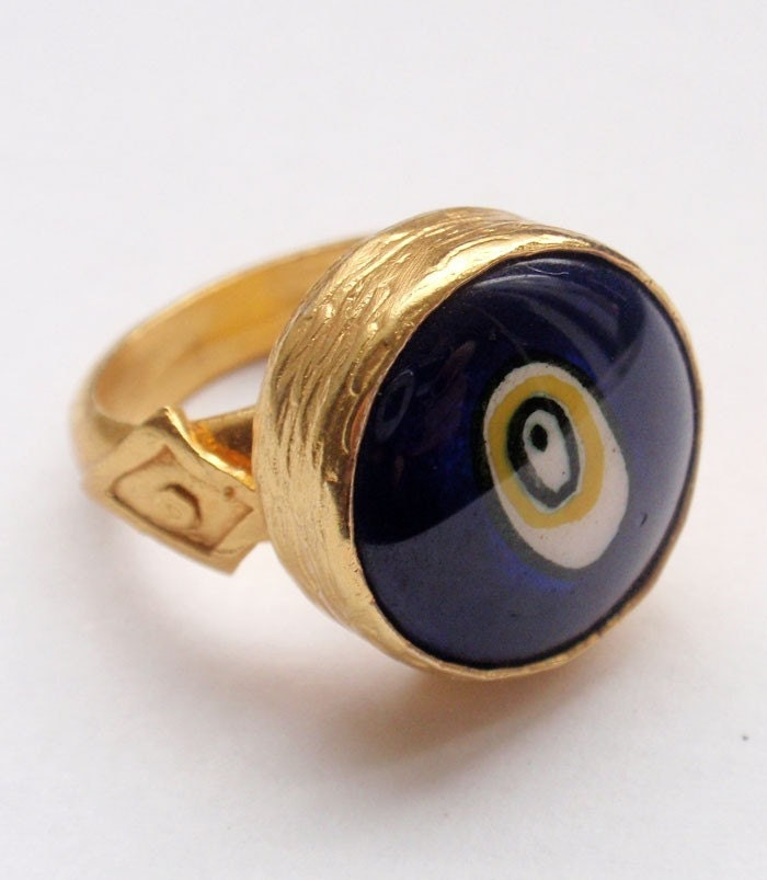 sale gold evil eye ring by petracollection on etsy
