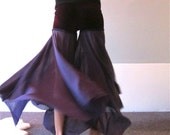 Purple Velvet Belly Dancer Bliss Pants
