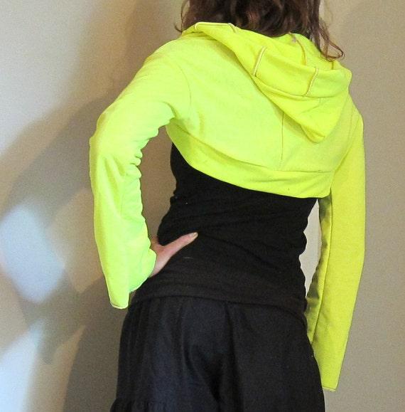 Neon Yellow Hoodie Shrug