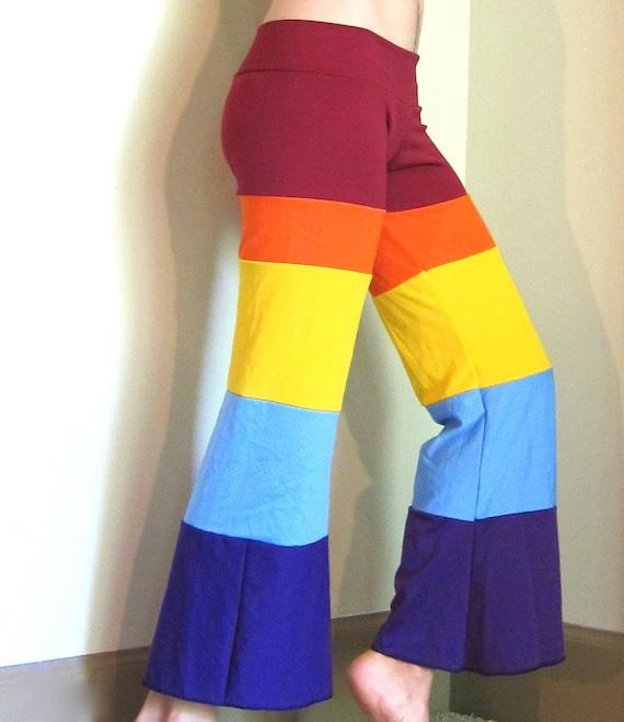 Rainbow Dance Capris Pants