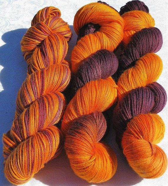 Handpainted Twist Sock Yarn - Superwash Merino Wool & Nylon - Serengeti