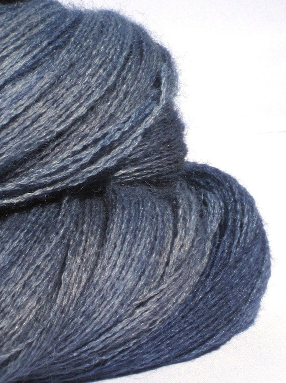 Darkening Skies - 80 percent Alpaca, 20 percent Silk Lace Yarn - 4 ounces