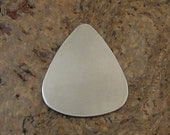 "10 Deburred 20G Nickel Silver 1 1/4"" inch X 1"" GUITAR PICK Stamping Blanks"
