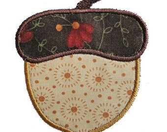 Machine Embroidery Designs Applique Acorn 4x4 and 5X7 sizes INSTANT DOWNLOAD