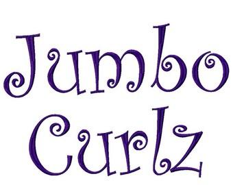 "Jumbo Monogram set 001 3 sizes 4"" 5"" 6"" INSTANT DOWNLOAD Machine Embroidery Designs"