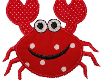 Machine Embroidery Designs Applique Crab 4x4 and 5X7 sizes INSTANT DOWNLOAD