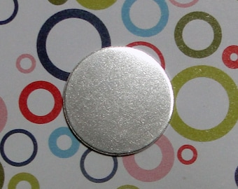 "10 Deburred 18G Aluminum 5/8"" inch Stamping Blanks Discs"