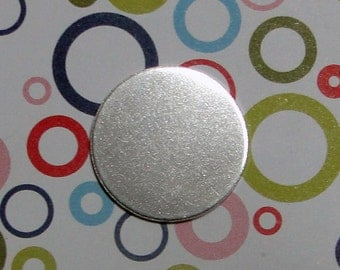 5 Deburred 18G Aluminum 1 inch (26mm) Stamping Blanks Discs