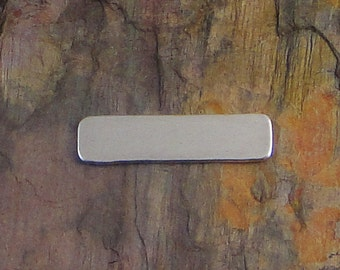"10 Deburred 18G Aluminum 1/4"" inch X 1"" RECTANGLE Stamping Blanks"