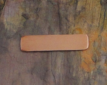 """15 Deburred 18G Copper 1/4"""" inch X 1"""" RECTANGLE Stamping Blanks"""