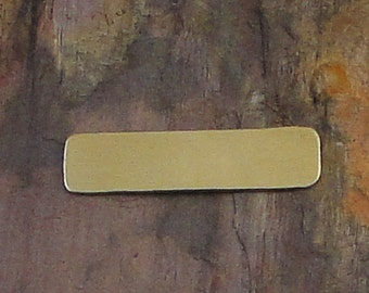 """10 Deburred 18G Brass 1/4"""" inch X 1"""" RECTANGLE Stamping Blanks"""