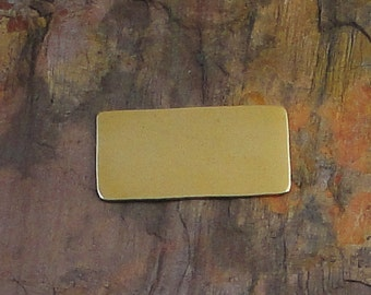 "20 Deburred 18G Brass 1/2"" inch X 1"" RECTANGLE Stamping Blanks"