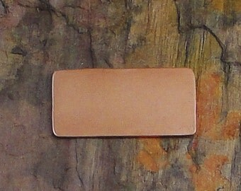"10 Deburred 24G Copper 1/2"" inch X 1"" RECTANGLE Stamping Blanks"