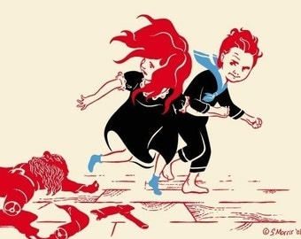 Fairytale Dwarf Print, Fantasy Art, Maiden, (Part Two) - Giclee Print