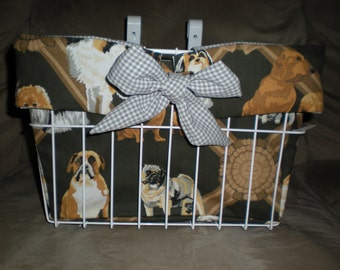 Pooches and Puppies Bicycle Basket Liner