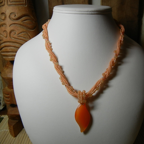 Tangerine Dream Necklace - RESERVED FOR KATIE