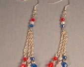 Patriotic Dangle Earrings