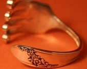 Queen Bess 1946 handmade fork bracelet is part of my complete line of spoon ring jewelry