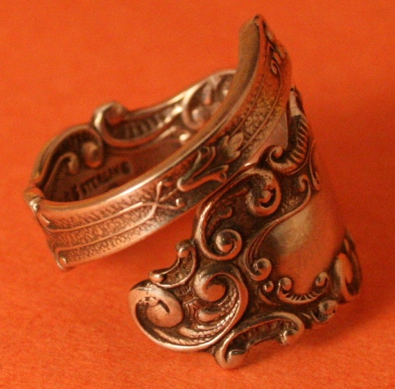 spoon ring gorham dainty sterling silver spoon ring can
