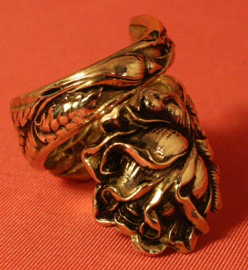 alvin bridal 1903 sterling silver spoon ring can be sized