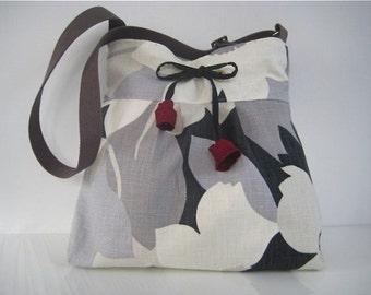 Garden Silk Tulip Messenger Diaper Bag Travel Bag