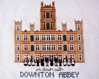 Downton Abbey Cross Stitch Pattern