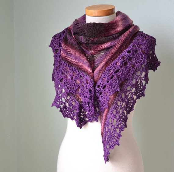 Reserved listing for Aubrey Lynne, Knitted shawl D358