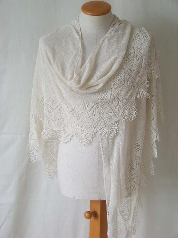 Knitting Patterns For Bridal Shawls : Bridal shawl
