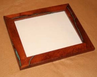 8 x 10 Mesquite frame kit with turquoise