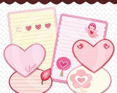 Printable Journaling Paper and Spot Love  - JF 001