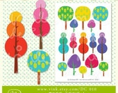 Printable Collage Sheet Tree Serie 1 - DC 010
