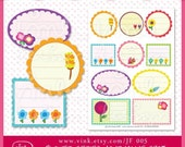 Printable Journaling Spot  Flower Series - JF 005