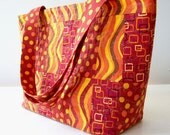Handmade Quilted Purse and Accessories Blazing Summer Sun