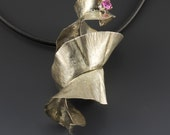 Fold Formed Sterling Silver Nudebranch Pendant