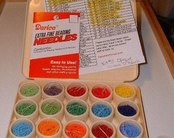 Seed Bead Beading Kit - Bead Kit 5 Opaque Sead Beads Needles and Thread