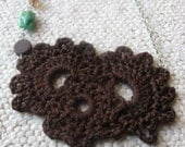 Coco Brown Crocheted Necklace