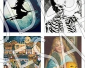 Halloween Scrabble Tiles 02 -- Digital Attitudes Collage Sheet -- BUY 3 GET 1 FREE