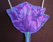Fabric Tulip Necklace