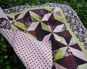 Handmade Baby Quilt with Organic Cotton and Bamboo Batting
