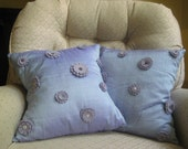 Periwinkle Silk Pillow