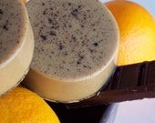 Holiday Sale - Orange Mocha Soap - Citrus, Chocolate and Coffee, Scrub Soap - Exfoliating Soap